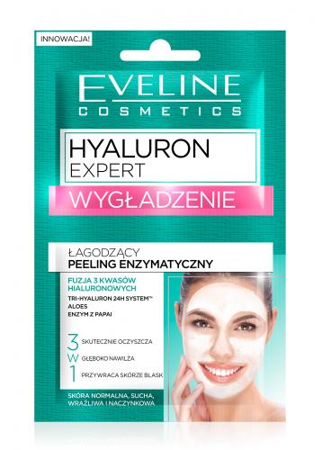 EVELINE - HYALURON EXPERT - WYGŁADZENIE - Łagodzący peeling enzymatyczny do twarzy