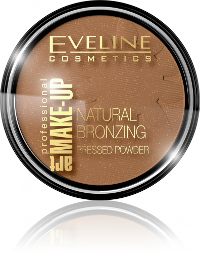 EVELINE - ART MAKE-UP - Natural Bronzing Pressed Powder - Puder brązujący - 50 Shine