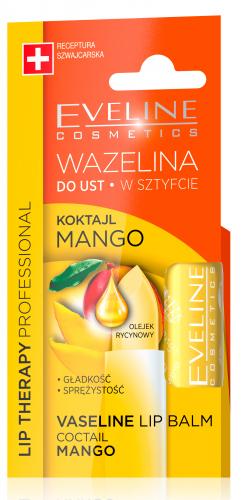 EVELINE - LIP THERAPY PROFESSIONAL - COCTAIL MANGO - Wazelina do ust w sztyfcie - KOKTAJL MANGO