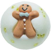 Bomb Cosmetics - Little Gingerbread Man Bath Creamer - Maślana, kremowa kuleczka do kąpieli - LUDZIK Z PIERNIKA