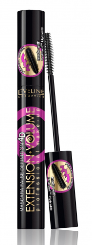 Eveline Cosmetics - EXTENSION VOLUME -False Definition Mascara - Wydłużająco-pogrubiający tusz do rzęs