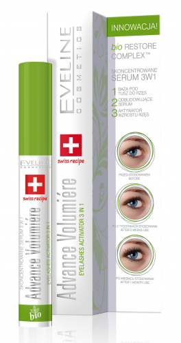 EVELINE - Advance Volumiere Eyelash Concentraced Serum 3in1 - Skoncentrowane serum do rzęs 3w1