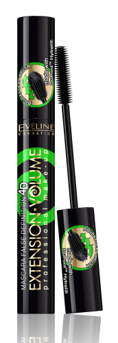 EVELINE - EXTENSION VOLUME Professional Make-Up Mascara - Wydłużająco-podkręcający tusz do rzęs