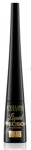 EVELINE - Liquid Precision Eyeliner 2000% - Wodoodporny eyeliner w płynie - BLACK MATT