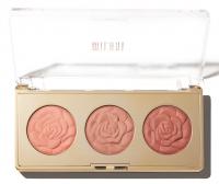 MILANI - ROSE POWDER BLUSH - TRIO PALETTE - Zestaw 3 róży do policzków - 02 FLORAL FANTASY