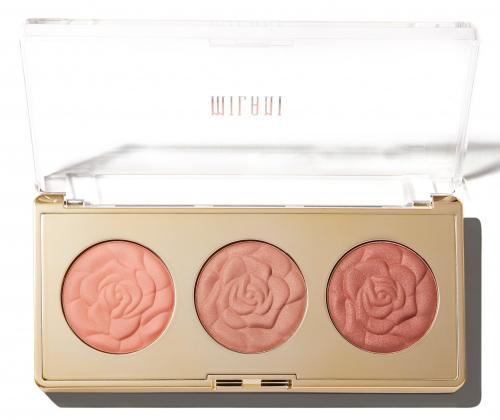 MILANI - ROSE POWDER BLUSH - TRIO PALETTE - 02 FLORAL FANTASY