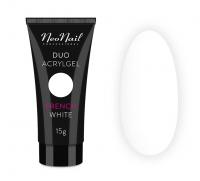 NeoNail - DUO ACRYLGEL - Akrylowo-żelowy produkt do przedłużania i modelowania paznokci - 15 g - FRENCH WHITE - 15 g - FRENCH WHITE - 15 g