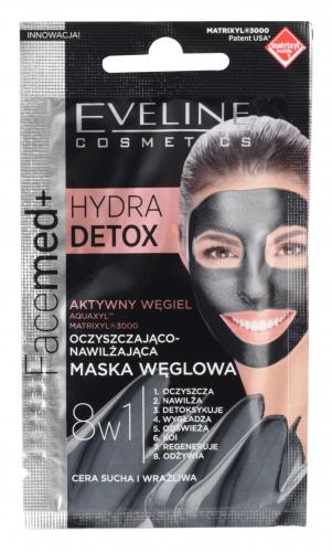 EVELINE - Facemed+ HYDRA DETOX - Oczyszczająco-nawilżająca maska węglowa