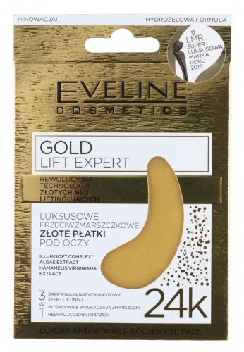 EVELINE - GOLD LIFT EXPERT - Przeciwzmarszczkowe płatki pod oczy z dodatkiem złota
