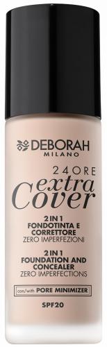 Deborah Milano - 24ORE Extra Cover - 2 IN 1 FOUNDATION AND CONCEALER - Podkład do twarzy 2w1