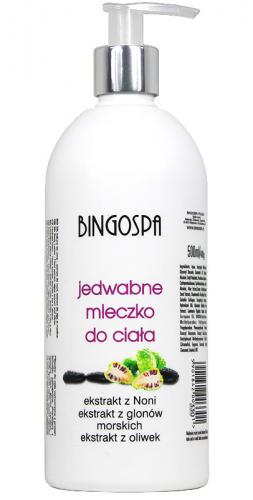 BINGOSPA - Jedwabne mleczko do ciała z ekstraktem z noni, glonów morskich i oliwek - 500ml
