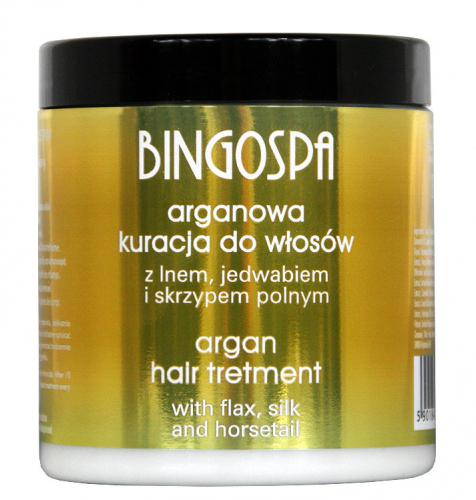 BINGOSPA - Argan Hair Treatment with Flax, Silk and Horsetail - 250g