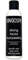 BINGOSPA - Strong Facial Mud Peeling - Mocny błotny peeling do twarzy z kwasem glikolowym, mlekowym i AHA - 120g