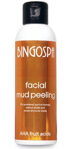 BINGOSPA - Facial Mud Peeling - Błotny peeling do twarzy z kwasami AHA - 120g