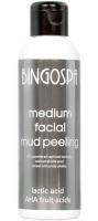 BINGOSPA - Medium Facial Mud Peeling - Średni błotny peeling do twarzy z kwasem mlekowym i AHA - 120g