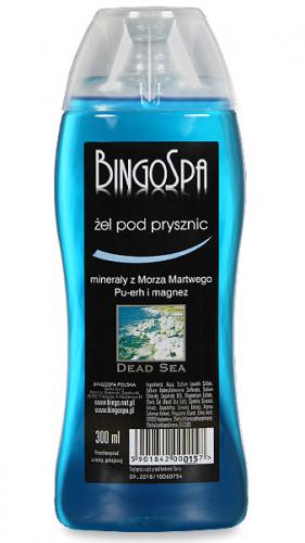 BINGOSPA - Żel pod prysznic z minerałami z morza martwego, Pu-erh i magnezem - 300 ml