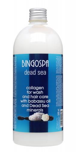 BINGOSPA - Collagen for Wash and Hair Care  - Preparat do mycia i pielęgnacji włosów z olejkiem babassu i minerałami z Morza Martwego - 500ml