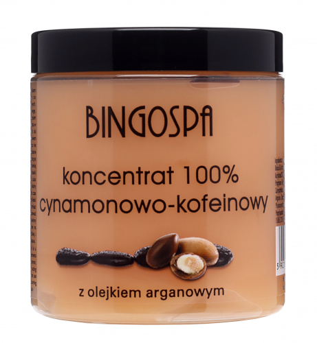 BINGOSPA -100% cinnamon-caffeine concentrate with argan oil for 'body-wrapping'