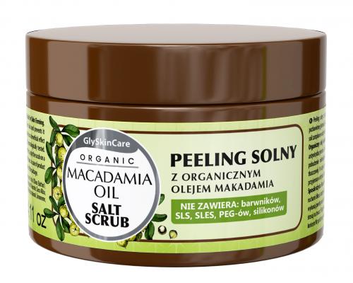 GlySkinCare - ORGANIC MACADAMIA OIL - SALT SCRUB - Peeling solny z organicznym olejem makadamia
