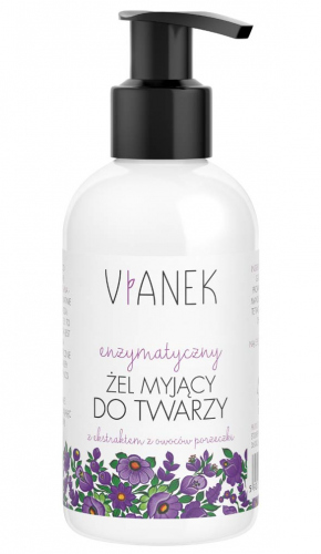 VIANEK - Enzymatic cleansing gel for the face with currant fruit extract - 150ml