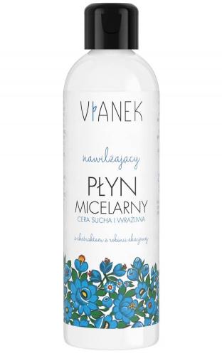 VIANEK - Nawilżający płyn micelarny z ekstraktem z robinii akacjowej do cery suchej i wrażliwej - 200 ml