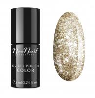 NeoNail - UV GEL POLISH COLOR - Lakier hybrydowy z błyszczącymi drobinami - 5371-7 CHAMPAGNE KISS - 5371-7 CHAMPAGNE KISS
