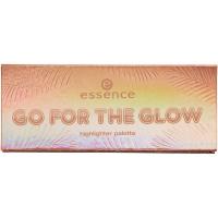 Essence - GO FOR THE GLOW Highlighter Palette - Paleta 3 rozświetlaczy do twarzy - 02 The Warms