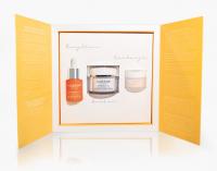 LUMENE - FINLAND - RITUAL VALO Gift Set - Zestaw prezentowy kosmetyków do pielęgnacji twarzy - Glow Boost Essence - Esencja hialuronowa 15 ml + Glow Reveal Rozświetlający krem do twarzy 50 ml + Overnight Bright Rozświetlający krem na noc 15 ml
