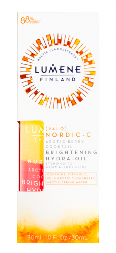 LUMENE - VALO - ARCTIC BERRY COCKTAIL BRIGHTENING HYDRA-OIL - Rozświetlający koktajl z witamina C do cery normalnej i suchej