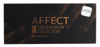 AFFECT - COLOUR BROW COLLECTION - PRESSED EYEBROW SHADOWS PALETTE - Paleta 10 cieni prasowanych do brwi