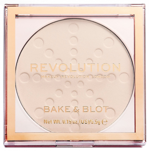 MAKEUP REVOLUTION - BAKE & BLOT SETTING POWDER - Puder do twarzy