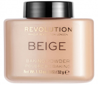 MAKEUP REVOLUTION - BEIGE BAKING POWDER - Sypki puder do twarzy