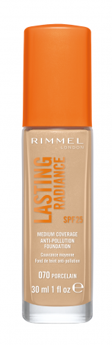 RIMMEL - LASTING RADIANCE - MEDIUM COVERAGE ANTI-POLLUTION FOUNDATION - Podkład długotrwale rozświetlający - SPF 25