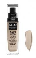NYX Professional Makeup - CAN'T STOP WON'T STOP - FULL COVERAGE FOUNDATION - Podkład do twarzy - PORCELAIN - PORCELAIN