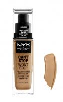 NYX Professional Makeup - CAN'T STOP WON'T STOP - FULL COVERAGE FOUNDATION - Podkład do twarzy - CARAMEL - CARAMEL