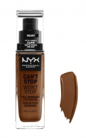 NYX Professional Makeup - CAN'T STOP WON'T STOP - FULL COVERAGE FOUNDATION - Podkład do twarzy - WALNUT - WALNUT