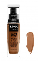 NYX Professional Makeup - CAN'T STOP WON'T STOP - FULL COVERAGE FOUNDATION - Podkład do twarzy - CAPPUCCINO - CAPPUCCINO