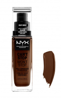 NYX Professional Makeup - CAN'T STOP WON'T STOP - FULL COVERAGE FOUNDATION - Podkład do twarzy - DEEP EBONY - DEEP EBONY
