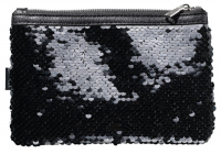 AFFECT -  sequin costemtic bag BLACK SWAN