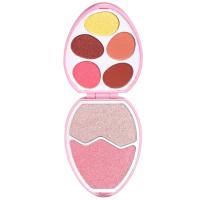 I Heart Revolution - Easter Egg Face and Shadow Palette - Zestaw do makijażu twarzy - FLAMINGO