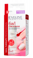 EVELINE - NAIL THERAPY PROFFESSIONAL 6in1 Care&Colour Conditioner - Odżywka do paznokci nadająca kolor - FRENCH