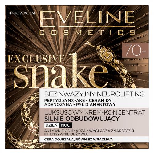 EVELINE - EXCLUSIVE SNAKE - Luksusowy krem odbudowujący dla cery dojrzałej - 70+