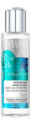 Eveline Cosmetics - HYALURON CLINIC - Intensywnie nawilżająca esencja do twarzy 3w1