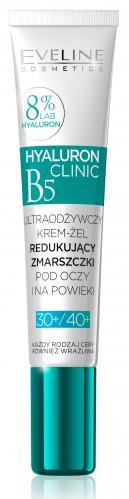 Eveline Cosmetics - HYALURON CLINIC - Ultraodżywczy, przeciwzmarszczkowy krem pod oczy dla cery dojrzałej i wrażliwej 30+/40+