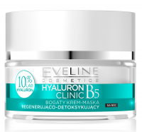 EVELINE - HYALURON CLINIC CREAM - Regenerating and detoxifying night cream face mask
