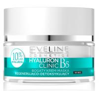 Eveline Cosmetics - HYALURON CLINIC CREAM - Regenerująco-detoksykujący krem-maska na noc