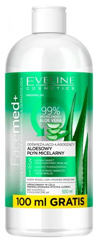 EVELINE - FaceMed + Aloesowy płyn micelarny do każdego rodzaju cery