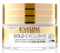Eveline Cosmetics - GOLD EXCLUSIVE - Luksusowy odbudowujący krem-serum z 24k złotem - 80+