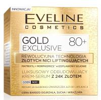 EVELINE - GOLD EXCLUSIVE - Luksusowy odbudowujący krem-serum z 24k złotem - 80+