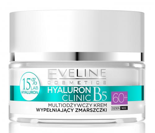 EVELINE - HYALURON CLINIC 60+ Multiodżywczy krem do twarzy wypełniający zmarszczki